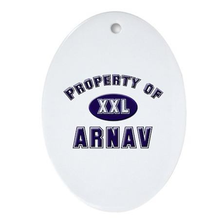 Property of arnav Oval Ornament