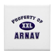 Property of arnav Tile Coaster