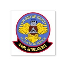 "US NAVAL INTELLIGENCE Milit Square Sticker 3"" x 3"""