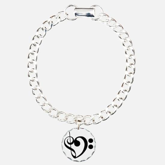 Musical-Heart Charm Bracelet, One Charm
