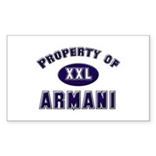Property of armani Rectangle Decal