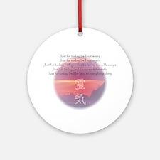 Reiki Principles Ornament (Round)