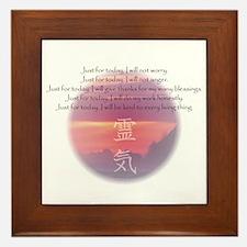 Reiki Principles Framed Tile