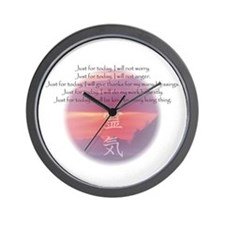 Reiki Principles Wall Clock