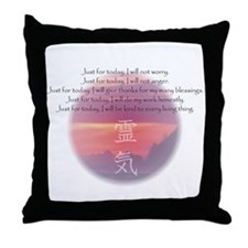 Reiki Principles Throw Pillow