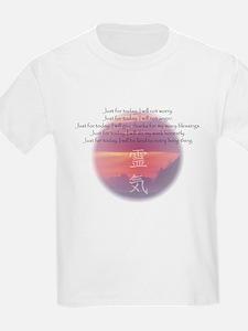 Reiki Principles Kids T-Shirt