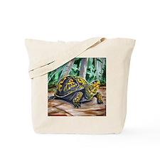 Box Turtle on Beaver Trail Tote Bag