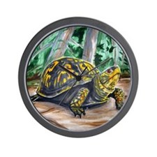 Box Turtle on Beaver Trail Wall Clock
