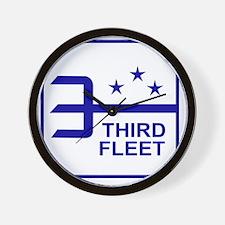 Third Fleet US Navy Military Patch Wall Clock