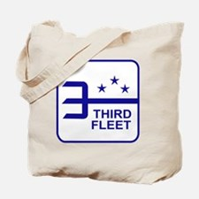 Third Fleet US Navy Military Patch Tote Bag