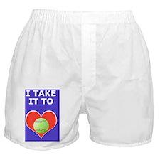 Softball iPhone 3G Hard Case, Take It Boxer Shorts