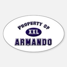 Property of armando Oval Decal