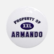 Property of armando Ornament (Round)