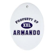 Property of armando Oval Ornament