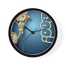 flipflop_botbones_blu Wall Clock
