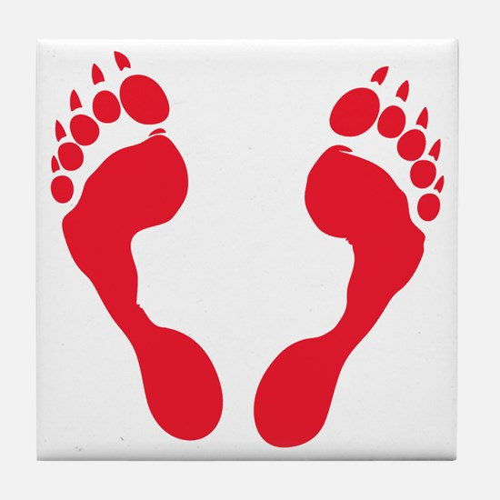 werewolf-track-red-T Tile Coaster