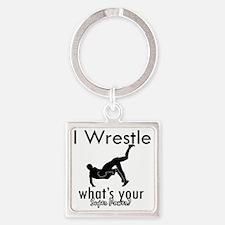 wrestle-freestyle Square Keychain