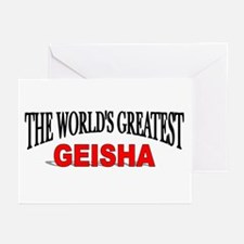 """""""The World's Greatest Geisha"""" Greeting Cards (Pack"""