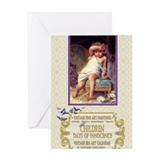 1 A MUNIER BROKEN VASE Greeting Card