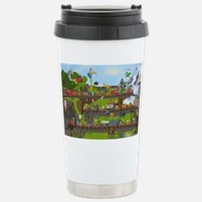 Alphabet Train Poster, Two Obje Travel Mug
