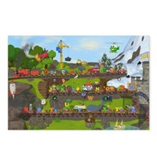 Alphabet Train Poster, Tw Postcards (Package of 8)
