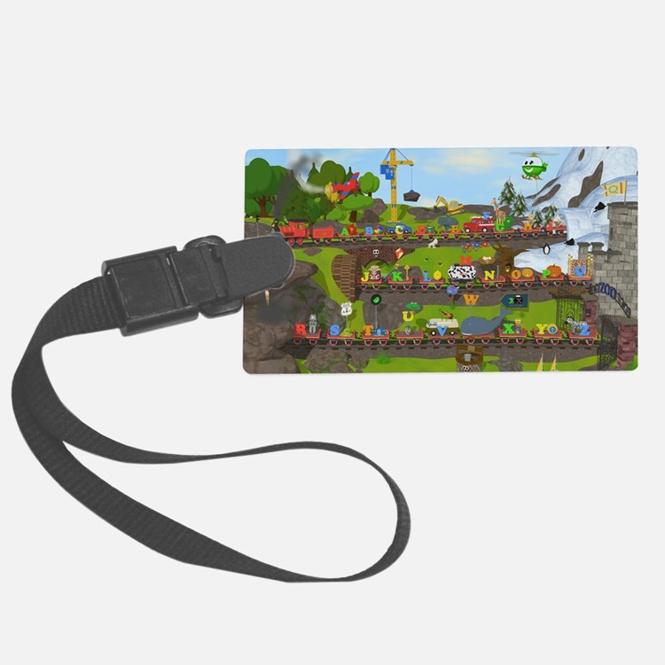 Alphabet Train Poster, Two Objec Luggage Tag