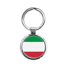 Flag of Italy Flip Flops Round Keychain