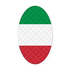 Flag of Italy Flip Flops Oval Car Magnet