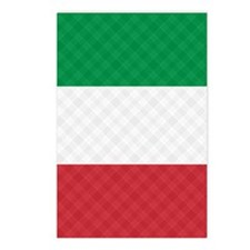 Flag of Italy Flip Flops Postcards (Package of 8)