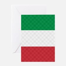 Flag of Italy Flip Flops Greeting Card