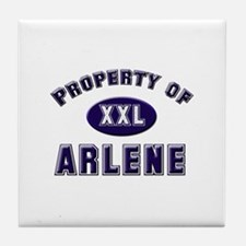 Property of arlene Tile Coaster