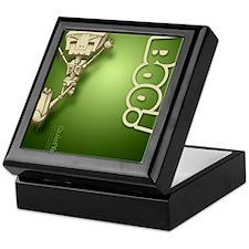 flipflop_botbones_grn Keepsake Box