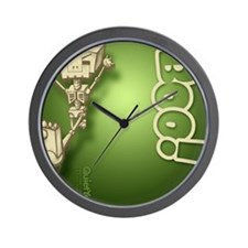 flipflop_botbones_grn Wall Clock