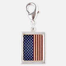 flip_flops_antique_american_ Silver Portrait Charm