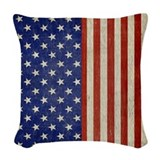 American flag Throw Pillows