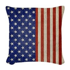 flip_flops_antique_american_fl Woven Throw Pillow