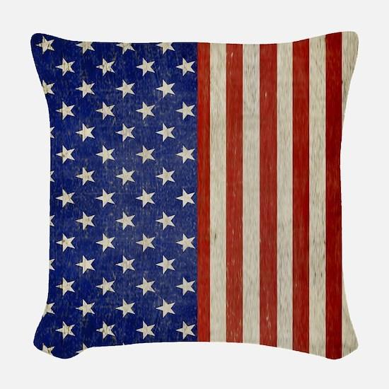 flip_flops_antique_american_fl Woven Throw Pillow