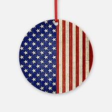 flip_flops_antique_american_flag Round Ornament