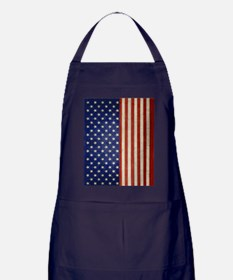 flip_flops_antique_american_flag Apron (dark)