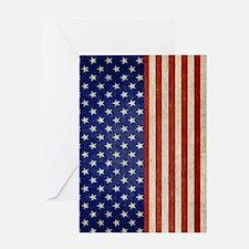 flip_flops_antique_american_flag Greeting Card