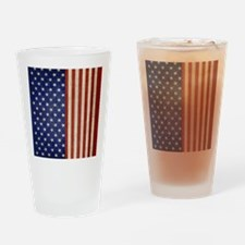 flip_flops_antique_american_flag Drinking Glass