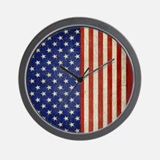 flip_flops_antique_american_flag Wall Clock