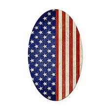 flip_flops_antique_american_flag Oval Car Magnet