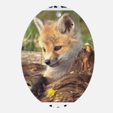 fox endangered Oval Ornament