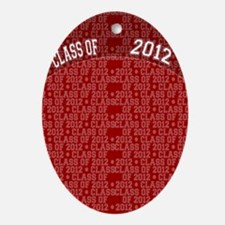 flip_flops_class_of_2012_red Oval Ornament