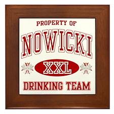 Nowicki Polish Drinking Team Framed Tile