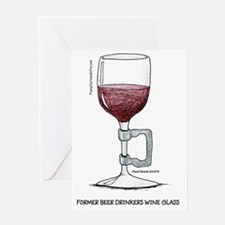 Former Beer Drinkers Wine Glass Greeting Card