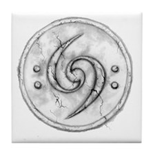 Double_Bass_Clef_tattoo_by_rebekahlyn Tile Coaster