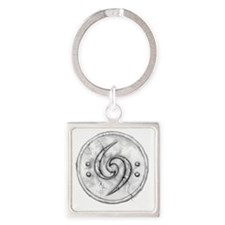 Double_Bass_Clef_tattoo_by_rebekah Square Keychain