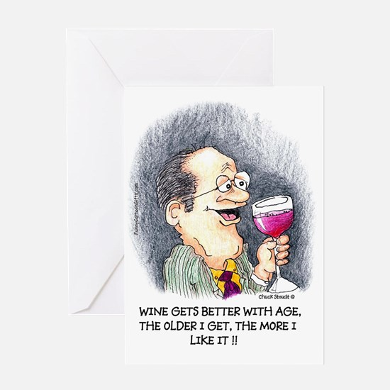 Wine Gets Better with Age Greeting Card